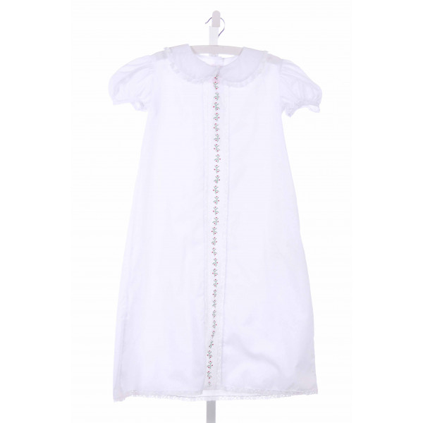 PEPPERMINT PONY  WHITE   EMBROIDERED PARTY DRESS WITH LACE TRIM