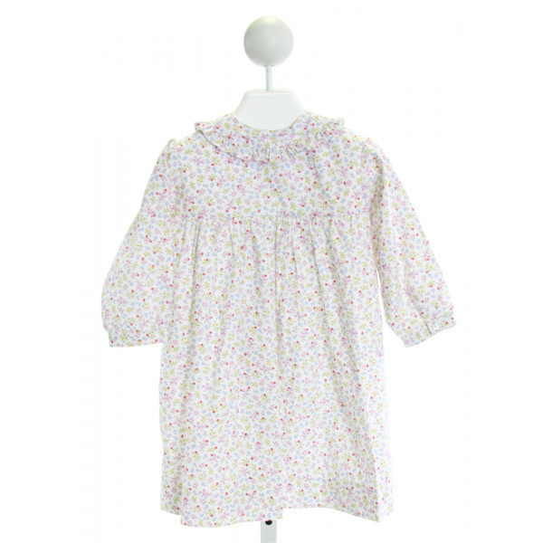 KATE & LIBBY  WHITE  FLORAL  DRESS WITH RUFFLE