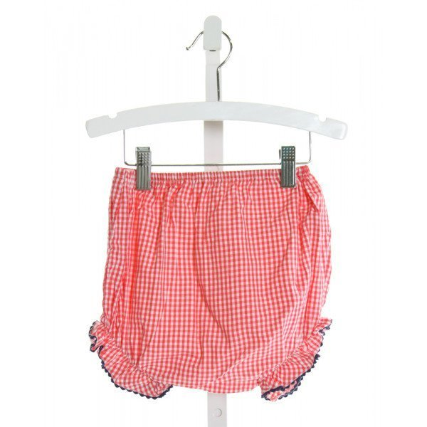 KATE & LIBBY  RED  GINGHAM  BLOOMERS WITH RIC RAC