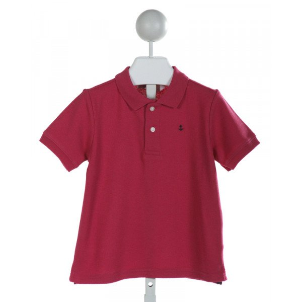 JANIE AND JACK  MAGENTA    CLOTH SS SHIRT