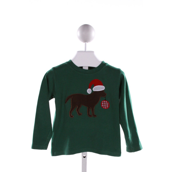 MONAG  GREEN   EMBROIDERED KNIT LS SHIRT