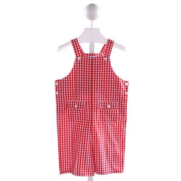 BELLA BLISS  RED  GINGHAM  JOHN JOHN/ SHORTALL