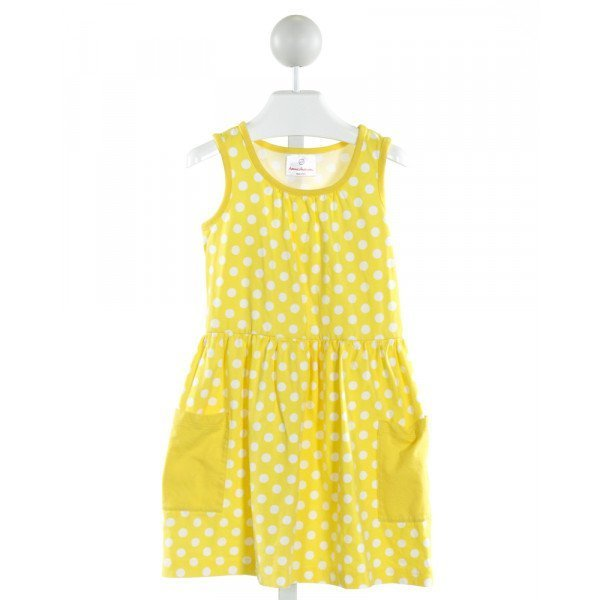 HANNA ANDERSSON  YELLOW  POLKA DOT  KNIT DRESS