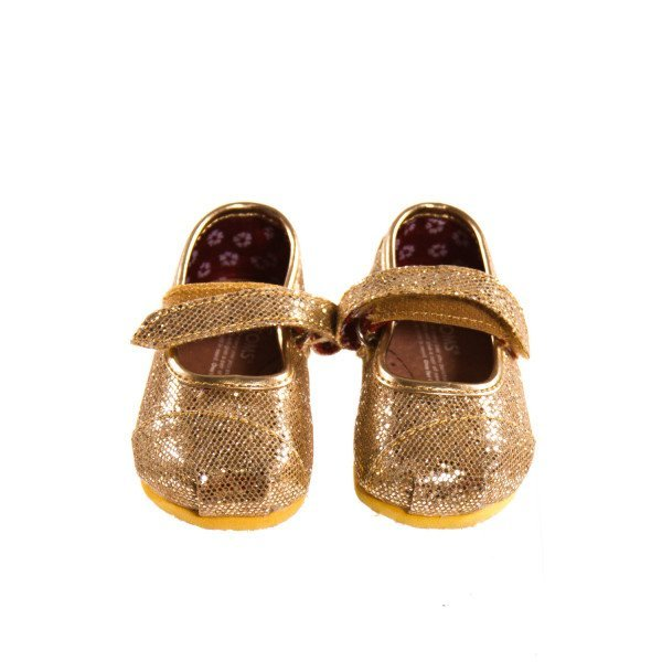 SPARKLY GOLD TOMS *SIZE 3, EUC