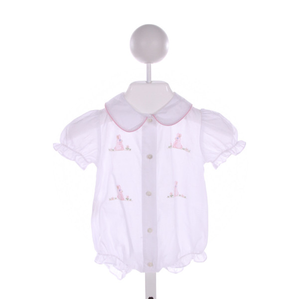 SWEET ANGELA  WHITE   EMBROIDERED BUBBLE WITH RUFFLE