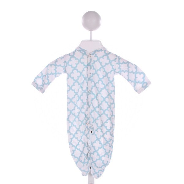 KATE QUINN  LT BLUE   PRINTED DESIGN LAYETTE