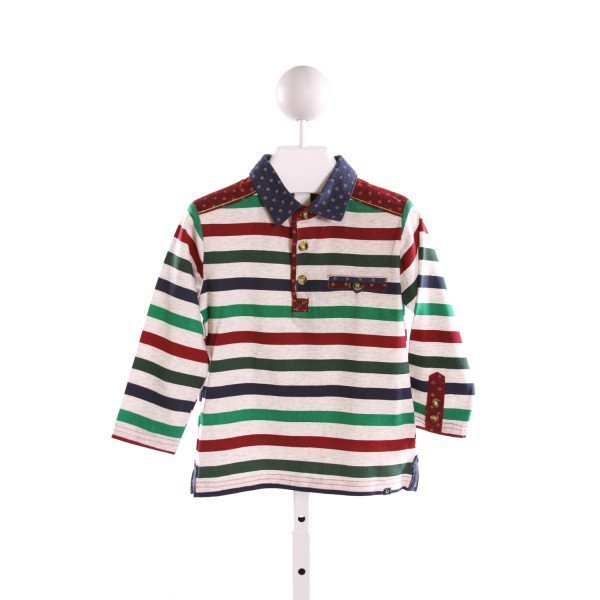 DEUX PAR DEUX  MULTI-COLOR  STRIPED  KNIT LS SHIRT