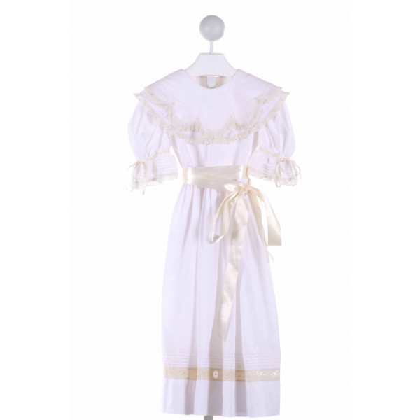 NO TAG  CREAM    PARTY DRESS WITH LACE TRIM