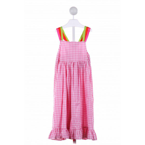 HANNAH KATE  PINK  GINGHAM  DRESS WITH RUFFLE