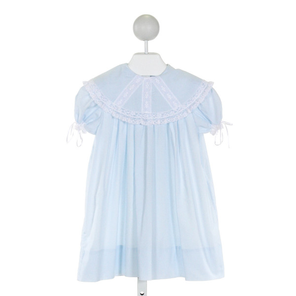 PEPPERMINT PONY  LT BLUE    DRESS WITH LACE TRIM