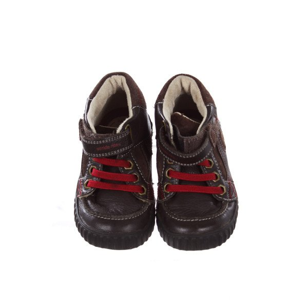 STRIDE RITE BROWN BOOTS WITH RED LACES TODDLER SIZE 7