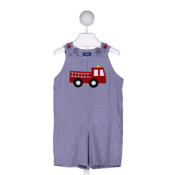 COTTON BLU  BLUE COTTON  APPLIQUED JOHN JOHN/ SHORTALL
