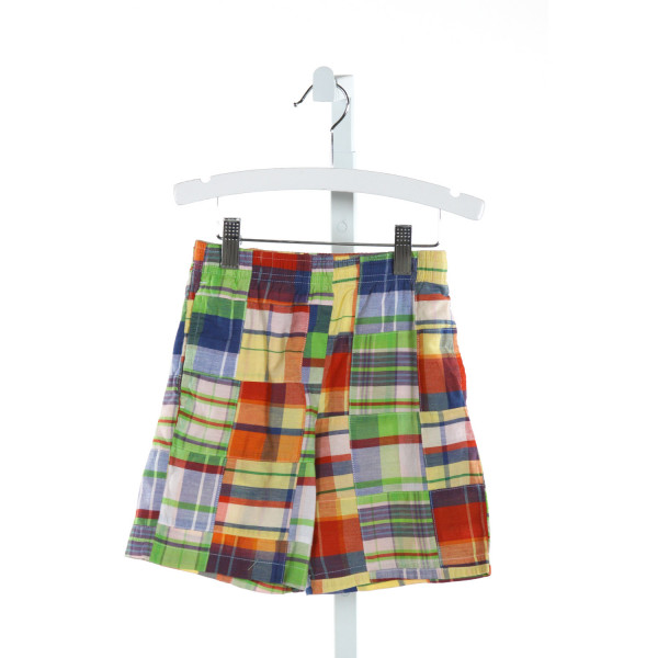 KELLY'S KIDS  LT GREEN  PLAID  SHORTS