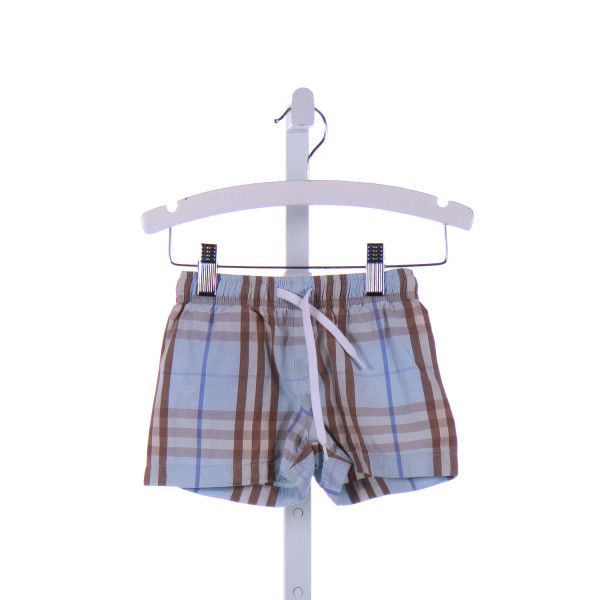 BURBERRY  LT BLUE  PLAID  SHORTS
