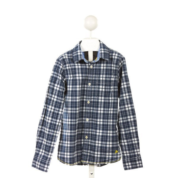 JOHNNIE-B  BLUE  PLAID  DRESS SHIRT