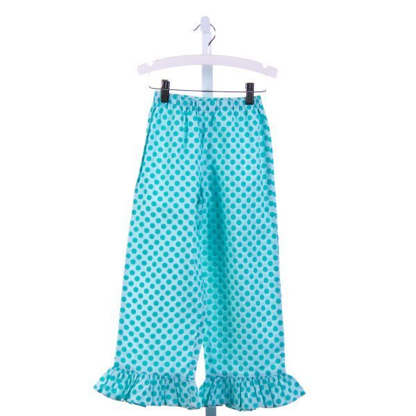 LOLLIPOP LAUNDRY  BLUE  POLKA DOT  PANTS WITH RUFFLE