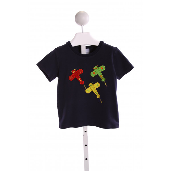 CASTLES & CROWNS  NAVY   EMBROIDERED T-SHIRT