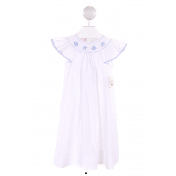PETIT BEBE  WHITE   SMOCKED DRESS