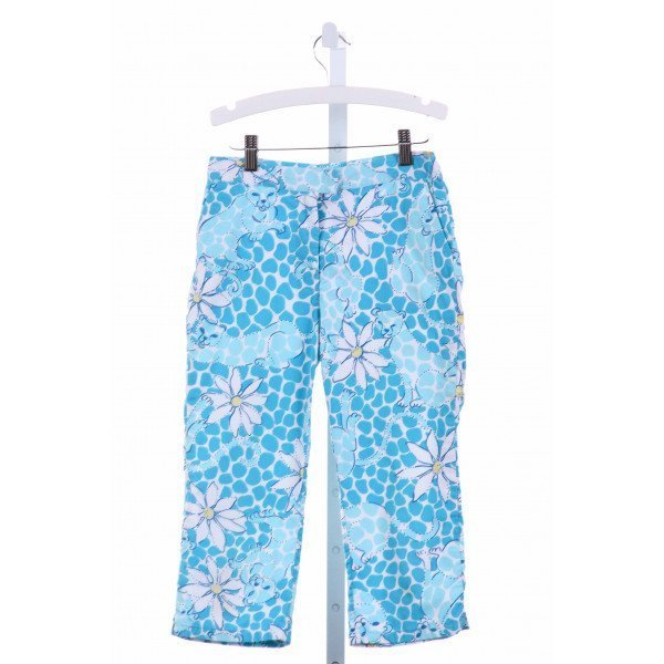 LILLY PULITZER  BLUE  FLORAL  PANTS