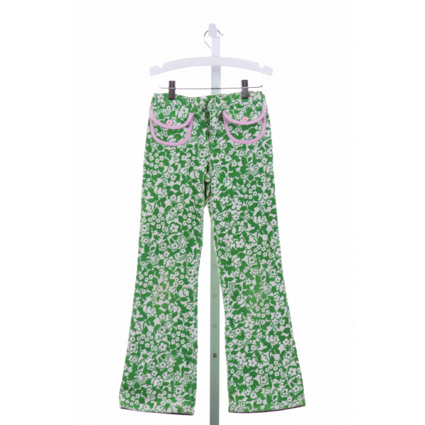 LILLY PULITZER  GREEN CORDUROY FLORAL  PANTS