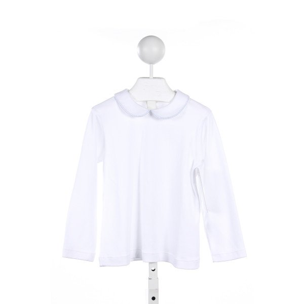 ALICE KATHLEEN WHITE KNIT BLANKET STITCH TOP