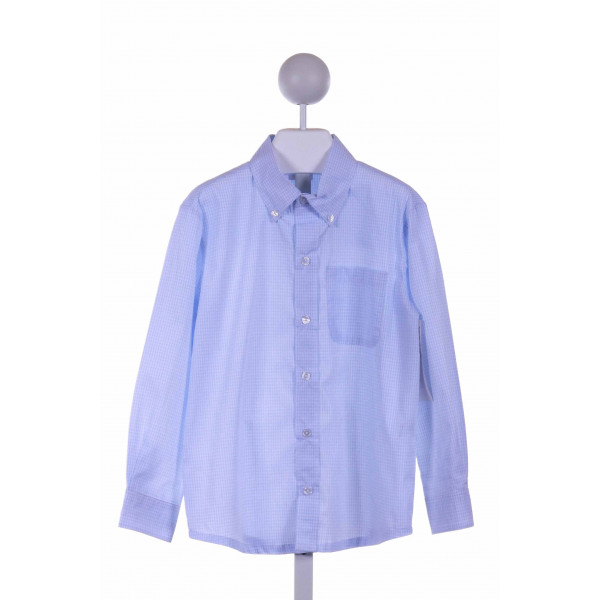 ALICE KATHLEEN  BLUE  GINGHAM  CLOTH LS SHIRT