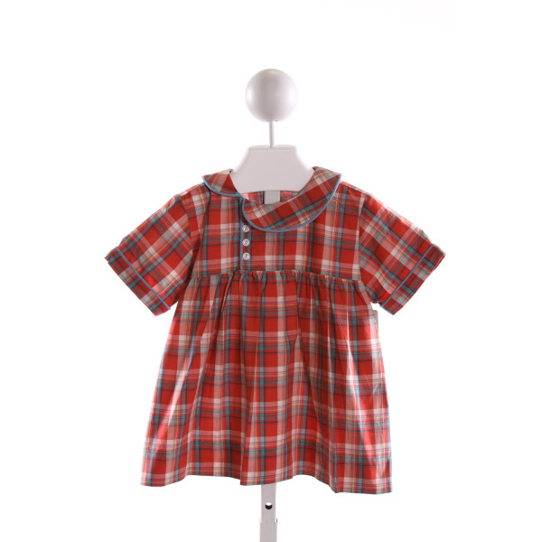 ALICE KATHLEEN  RED  PLAID  CLOTH SS SHIRT