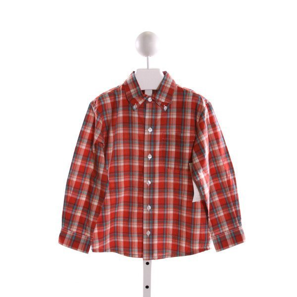 ALICE KATHLEEN  RED  PLAID  CLOTH LS SHIRT