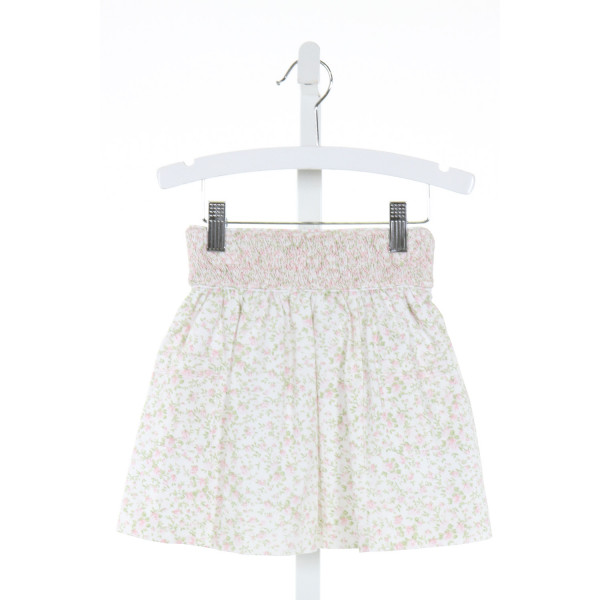 ALICE KATHLEEN  GREEN  FLORAL SMOCKED SKIRT