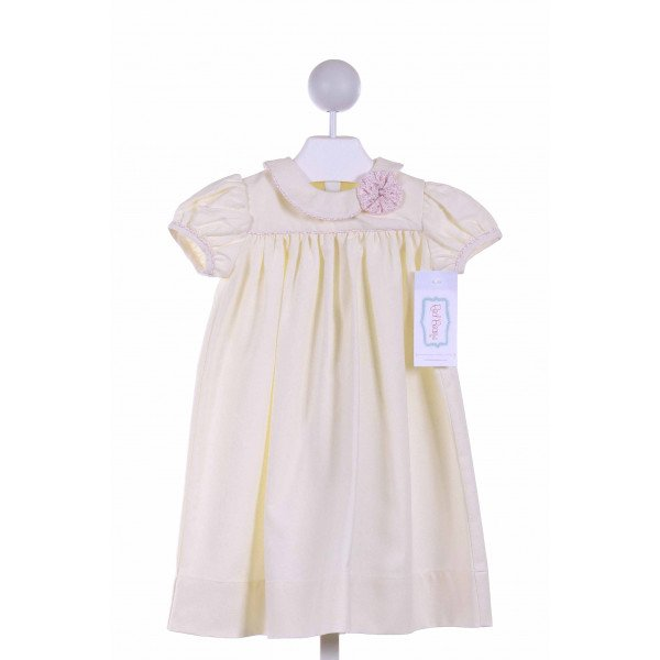 RED BEANS  PALE YELLOW PIQUE   CASUAL DRESS
