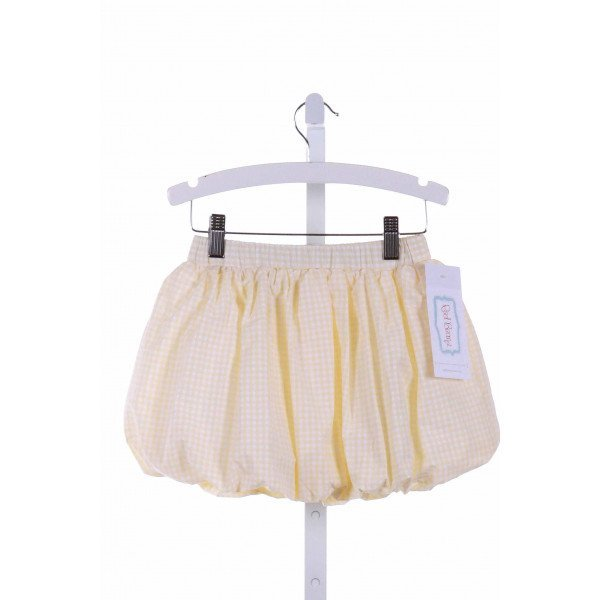 RED BEANS  PALE YELLOW  GINGHAM  SKIRT