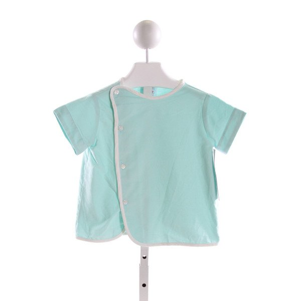 RED BEANS  AQUA COTTON   CLOTH SS SHIRT