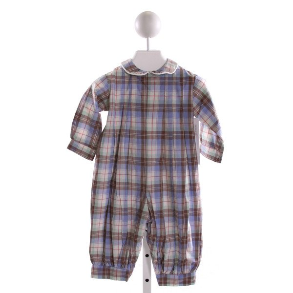 RED BEANS  MULTI-COLOR  PLAID  LONGALL/ROMPER