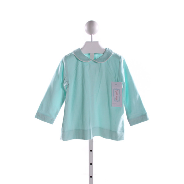 RED BEANS  AQUA CORDUROY   CLOTH LS SHIRT