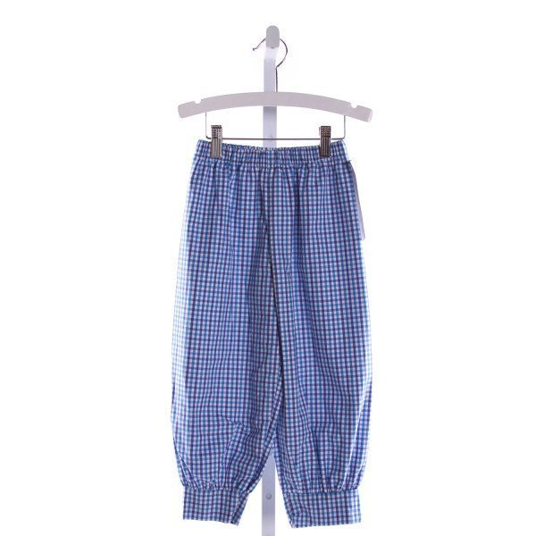 RED BEANS  BLUE  GINGHAM  PANTS