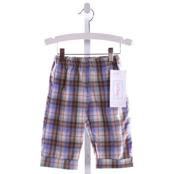 RED BEANS  MULTI-COLOR  PLAID  PANTS