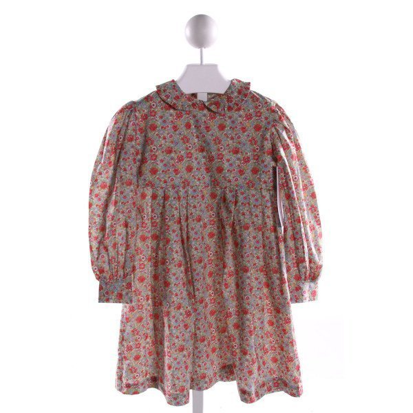 RED BEANS  MULTI-COLOR  FLORAL  DRESS WITH RUFFLE