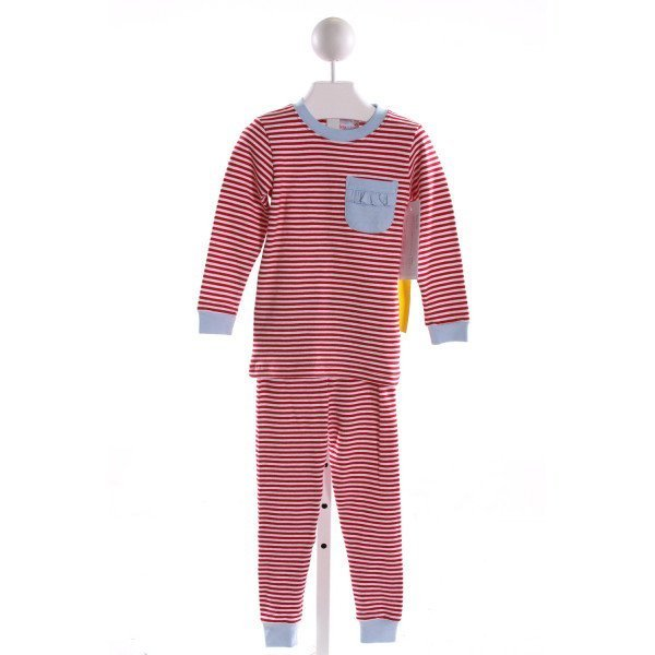RED BEANS  MULTI-COLOR  STRIPED  LOUNGEWEAR WITH RUFFLE