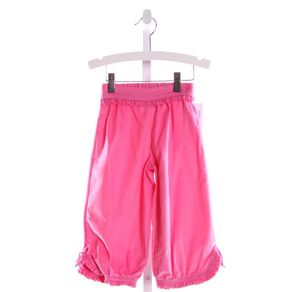 RED BEANS  HOT PINK CORDUROY   PANTS WITH RUFFLE