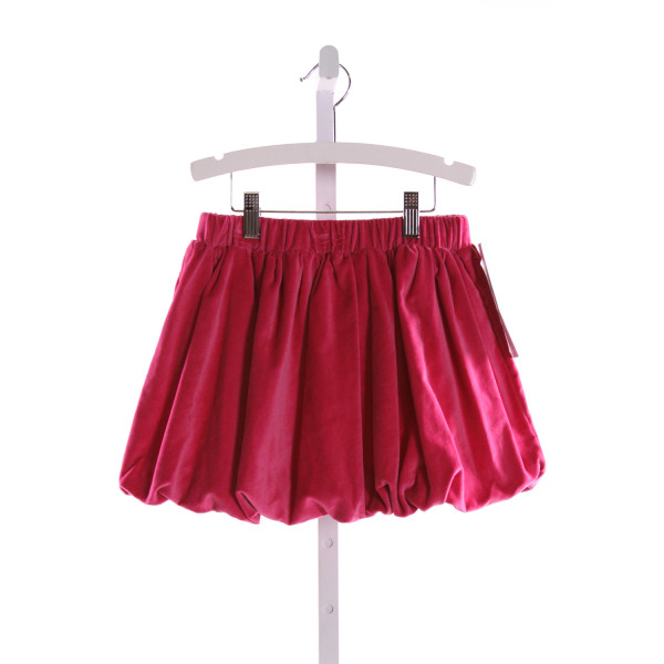 RED BEANS  HOT PINK VELVET   SKIRT