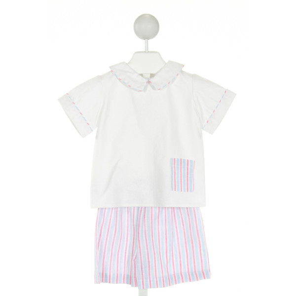RED BEANS  OFF-WHITE  STRIPED  2-PIECE OUTFIT