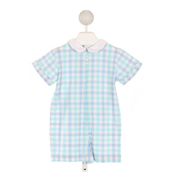 RED BEANS  BLUE  GINGHAM  LONGALL/ROMPER