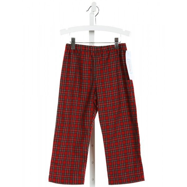 RED BEANS  RED  PLAID  PANTS