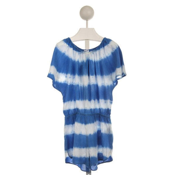 SPLENDID BLUE AND WHITE TIE DYE KNIT ROMPER