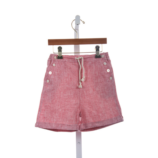 OLIVE JUICE RED CHAMBRY SHORTS *NWT