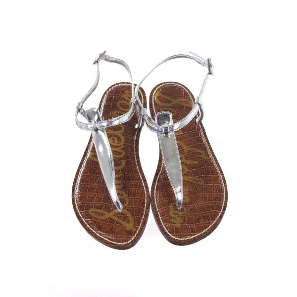 SAM EDELMAN SILVER SANDALS CHILD SIZE 4 (WOMEN'S SIZE 6=CHILD 4)