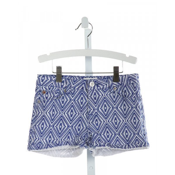 HUDSON  ROYAL BLUE   PRINTED DESIGN SHORTS