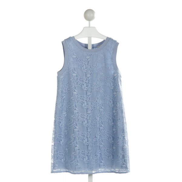 MAYORAL  LT BLUE   EMBROIDERED DRESS