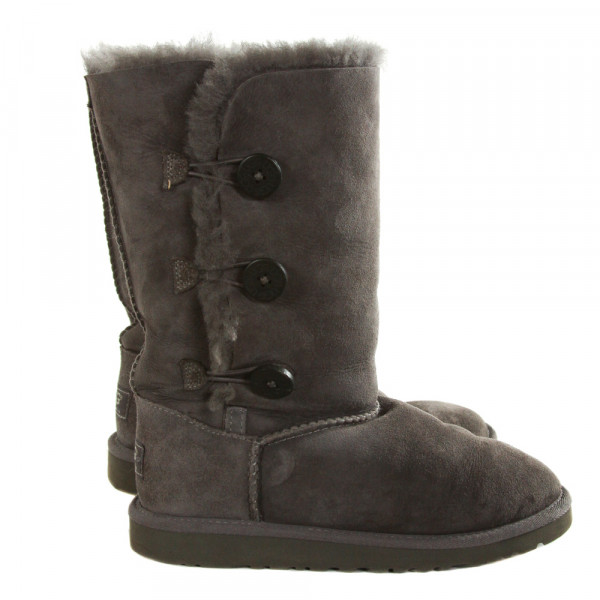 UGG GRAY BOOTS *SIZE CHILD 3, VGU - MINOR WEAR AND DISCOLORATION