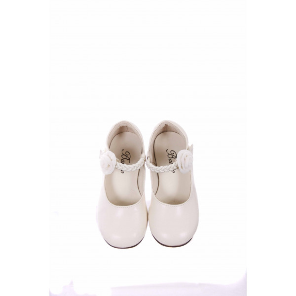 BALLETO BY JUMPING JACKS  WHITE MARY JANES *VGU